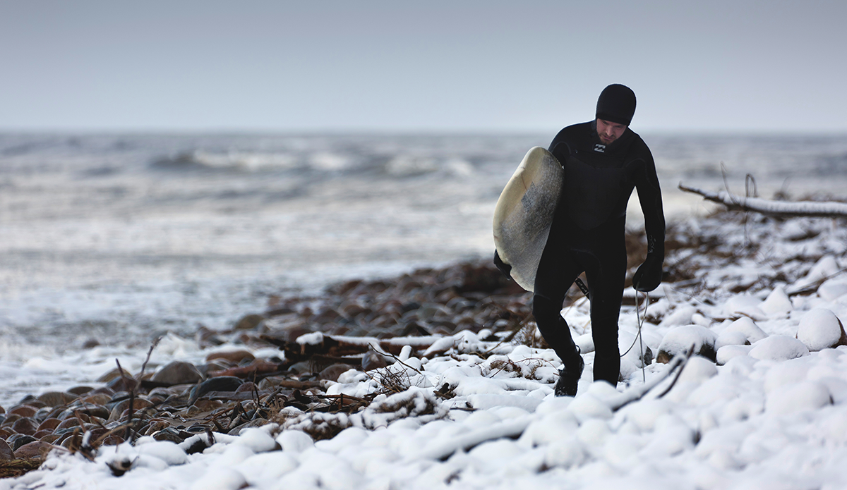 Breaking stereotypes - surfing on the Baltic Sea's waters in winter